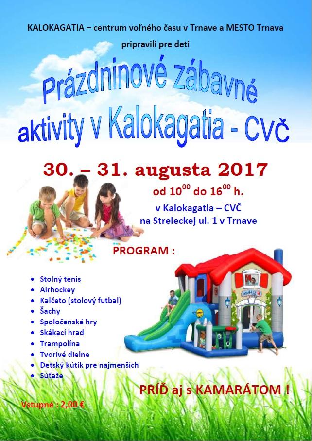 Prázdninové aktivity - august